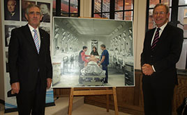 Kerry Breen and Michael Davies with the centenary art  work thumbnail_166
