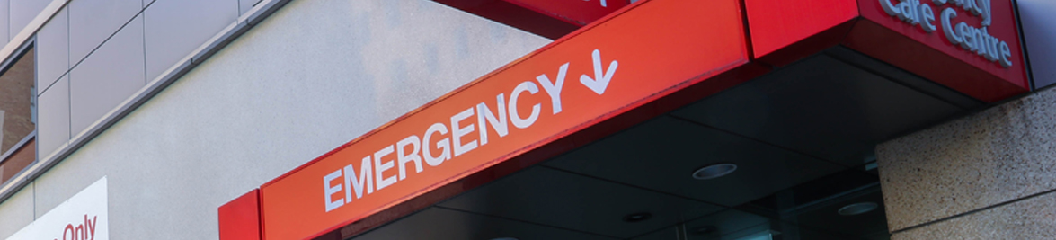 Emergency Entrance Banner